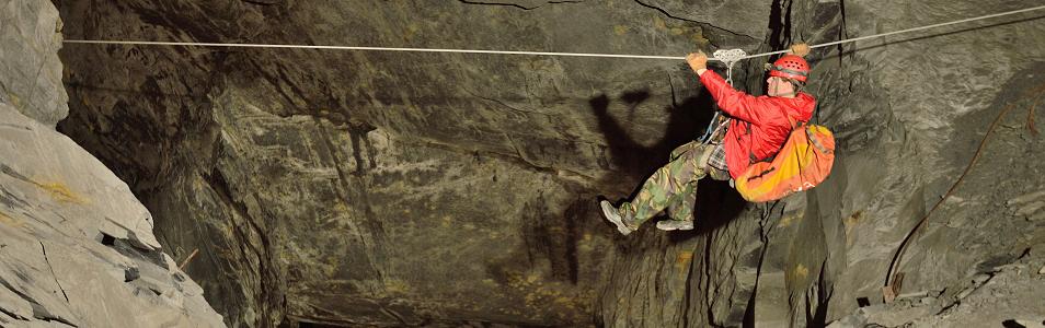 Caving In >> Go Below - Snowdonia Caving Trips in Wales