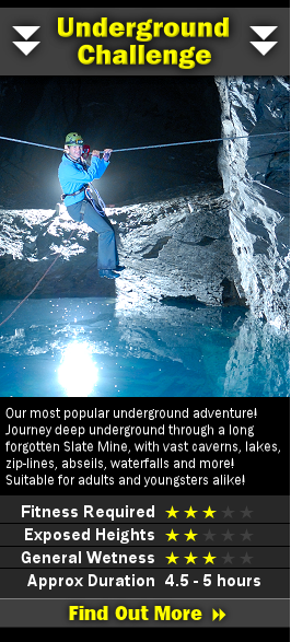 Information on our Challenge Underground Adventure
