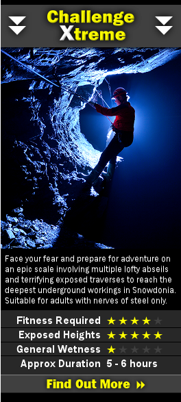 Information on our Challenge Xtreme underground trip